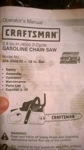 best 20 craftsman chainsaw ideas on pinterest engine repair