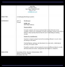 Sample Bookkeeping Resume by Sample Resume Of Bookkeeper