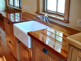 interior dark laminated walnut butcher block island which mixed