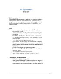 cashier duties and responsibilities resume cashier duties   How to get Taller