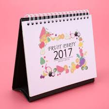 aliexpress com buy cute 2017 table calendar stand daily