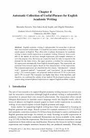 Automatic Collection of Useful Phrases for English Academic      Inside