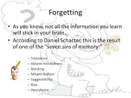 Cognition  Memory The persistence of learning over time through     SlidePlayer