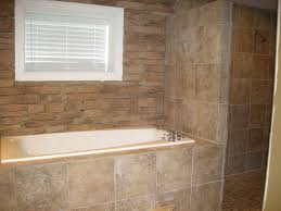 Jetted Tub Shower Combo Bed Bath Bathroom With Corner Shower And Glass Enclosure Tiling