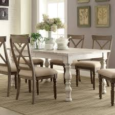 aberdeen wood rectangular dining table only in weathered worn
