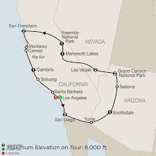 Grand Park Los Angeles Map by America National Park Vacation Packages U0026 Tours Globus