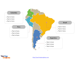 Latam Map Free South America Editable Map Free Powerpoint Templates