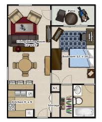 1 bedroom 1 bathroom this is an apartment floor plan small
