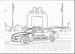 awesome police badge coloring page with police car coloring pages