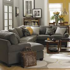 Brown And Yellow Living Room by Left Cuddler Sectional Love The Idea Of A Gray Couch Yellow