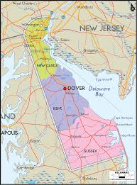 United States Map Major Cities by Map Of Delaware Includes Major Cities Towns Counties And Road