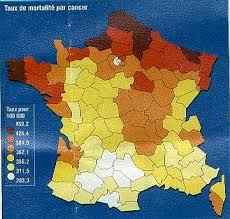 DIABETE ET LIENS QUALITE  DE L EAU / cartographie de la france  dans A propos - PUBLICATIONS