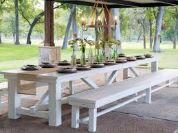 white teak outdoor dining table and bench u2014 home ideas collection