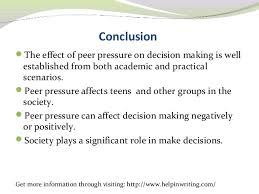 Essay on peer pressure  Link Editions  Peer Pressure