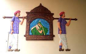 Mural Painting Sketches by Pallaki Palki Wall Relief Mural Art In Cement Acrylic Colors