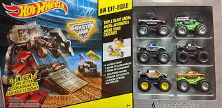 monster truck show discount code amazon com wheels monster jam triple blast arena with 6