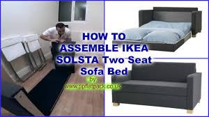 Ikea Sofa Ikea Solsta Ullvi Two Seat Sofa Bed Assembly Youtube