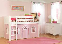 low loft bed for toddler with tent and ladder decofurnish