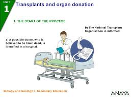 UNIDAD   UNIT   Transplants and organ donation Biology and Geology    Secondary Education   SlidePlayer