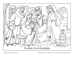 the birth of john the baptist coloring page children u0027s bible