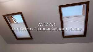 mezzo motorized cellular skylight shades feature benefit youtube
