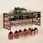 Elegant Metal Wall Mounted Wine Racks With Glass Holder Ideas ...
