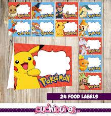 24 pokemon food tent cards instant download printable pokemon