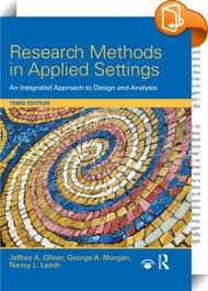 Research Methods in Applied Settings     lt P gt This text teaches readers how to plan  conduct  and write a research project and select and interpret data