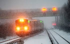Blizzard       MTA subways  commuter trains shut down in NYC   NY     New York Daily News     York Daily News  The Long Island Rail Road shows delays as people head home to prepare for a historic