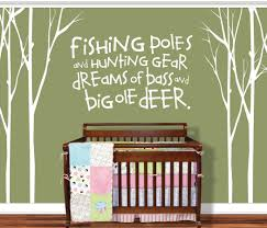 Tree Decal For Nursery Wall by Tree Decal Nursery Tree Decal Hunting Wall Decal Fishing