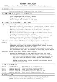 Best Executive Resume Format by Executive Assistant Resume Samples Berathen Com