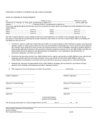 Medical Power Of Attorney Forms by Power Of Attorney For Minor Child Form 7 Free Templates In Pdf