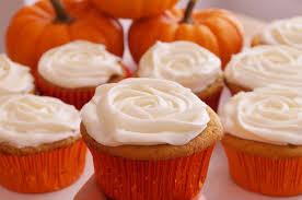 pumpkin cupcakes w cream cheese frosting how to recipe dishin