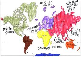 Colored World Map by Color Coded Map Of The World Continents You Can See A Map Of