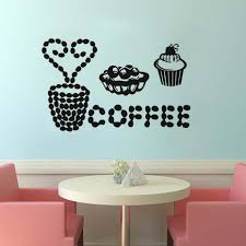 popular cake wall decals buy cheap cake wall decals lots from vinyl wall decal cut coffee cake sticker wall art kitchen restaurant pub decor wall stickers removable