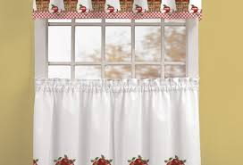Tuscan Kitchen Curtains Valances by Curtains Graceful Red Kitchen Curtains Walmart Notable Red