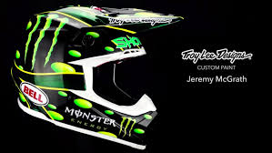 troy lee designs motocross helmet troy lee designs mcgrath u0026 gwin painted helmets