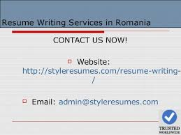 Resume Writing Services Romania