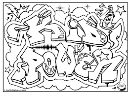 graffiti coloring pages kid power free graffiti coloring page free