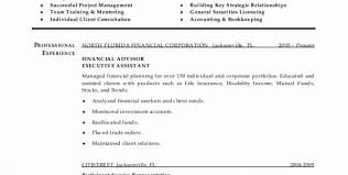 Financial Planner Resume Sample by Financial Advisor Resume Sample Free Financial Advisor Assistant