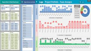 Excel Heat Map Project Portfolio Dashboard Template Analysistabs Innovating