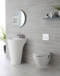 Tile Design For Bathroom We Adore This White And Grey Bathroom Complete With Lavish Basin