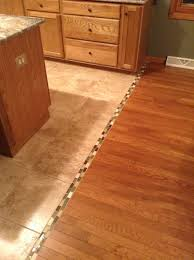 Kitchen Tile Flooring Ideas Transition Between Hardwood And Tile Floor We Should Do This