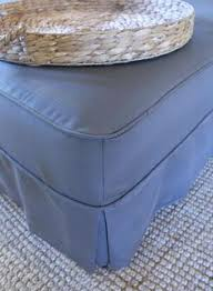 making your own ottoman slipcover grab this simple fit tip