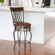 leather saddle bar stools hillsdale montello 26 in backless swivel counter stool old