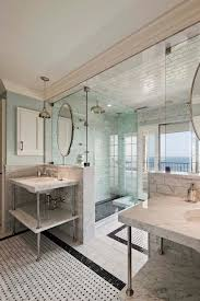 Coastal Bathroom Decor His And Her Bathroom Nice Layout For Shower And View House To