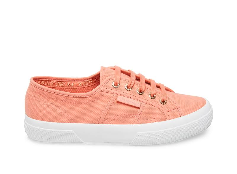 Superga 2750 Cotu Classic Full Peach / Light Coral Ankle-High Canvas Sneaker 8M 6.5M