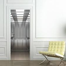 the elevator door stickers 3d pvc self adhesive wallpaper the elevator door stickers 3d pvc self adhesive wallpaper waterproof door decoration decor stickers decor stickers for walls from candy0579 17 97 dhgate