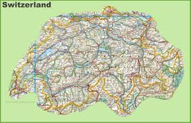 Detailed Map Of Germany by Switzerland Maps Maps Of Switzerland