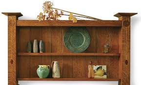 assemble an arts and crafts wall shelf finewoodworking